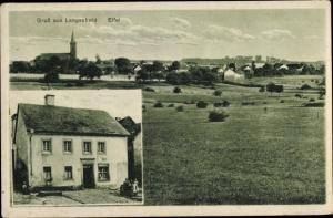Ak Langscheid Sundern Sauerland, Panorama vom Ort, Kaufhaus Bernh. Erdel