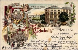 Litho Hagen in Westfalen, Konzerthaus und Restaurant Riechshalle, Konzertsaal, Engel