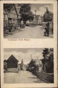 Ak Holzhausen Burbach Kreis Siegen, Straßenpartien