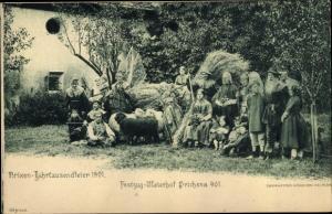 Ak Brixen Bozen Südtirol, Jahrtausendfeier 1901, Festzug Meterhof Prichsna 901