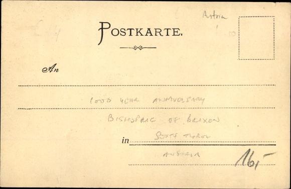 Ak Brixen Bozen Südtirol, Jahrtausendfeier 1901, Festzug Meterhof Prichsna 901 1