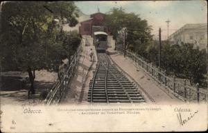 Ak Odessa Ukraine, Ascenseur du Boulevard Nicolas, Bergbahn