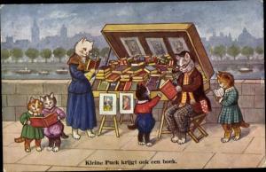 Ak Kleine Puck krijgt ook een boek, Katzen kaufen Bücher