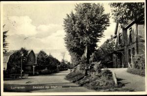 Ak Lunteren Ede Gelderland, Gezicht op station