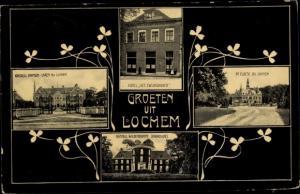Ak Lochem Gelderland, De Cloese bu Lochem, Hotel Het Zwijnzhoofd, Kasteel Wildenborch, Ampsen