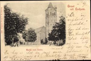 Ak Lochem Gelderland, Markt met Toren