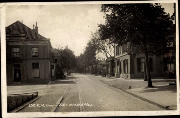 Ak Lochem Gelderland, Begin Zutphensche Weg 0