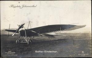 Ak Berlin Treptow Johannisthal, Flugplatz, Gotha Eindecker, Sanke 245