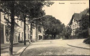 Ak Reinbek in Schleswig Holstein, Bahnhofstraße, Post, Geschäft H. Rathmann
