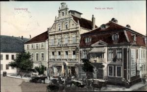 Ak Tschernjachowsk Insterburg Ostpreußen, Markt, Geschäftshaus A. Aron