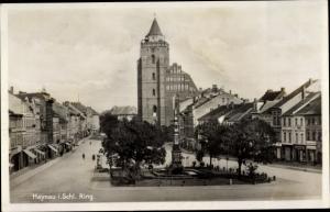 Ak Chojnów Haynau Schlesien, Ring, Kirche, Denkmal