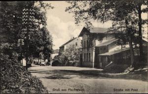 Ak Fischerwall Gransee in Brandenburg, Straße, Post