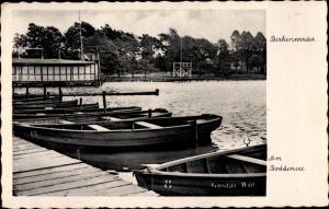 Ak Birkenwerder in Brandenburg, Am Boddensee, Ruderboote Gustav Witt