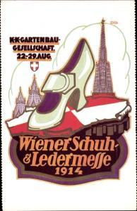 Künstler Ak Wien Österreich, K. K. Gartenbau Gesellschaft, Wiener Schuh und Ledermesse 1914