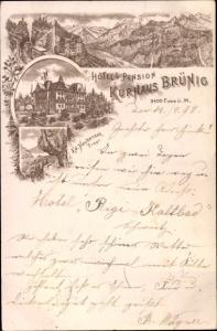 Litho Brünig Kanton Obwalden, Kurhaus Brünig, Inh. Ed. Haubensak
