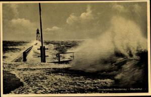 Ak Norderney in Ostfriesland, Sturmflut