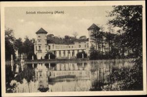 Ak Prebelow Rheinsberg Mark, Blick auf das Schloss