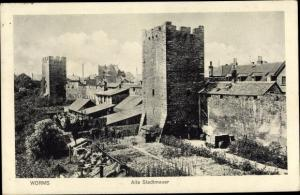 Ak Worms in Rheinland Pfalz, alte Stadtmauer