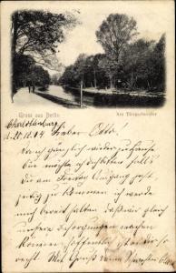 Ak Berlin Tiergarten, Tiergartenufer