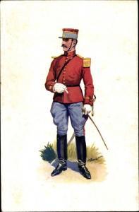 Ak Officiers Francais, Musee Marechal Franchet d'Esperey