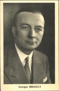 Ak Georges Bidault, Französischer Politiker, Portrait