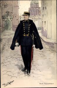 Künstler Ak Französischer Offizier