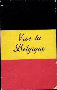 Ak Belgische Flagge, Vive la Belgique