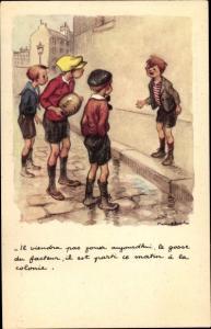 Künstler Ak Poulbot, Francisque, Il viendra pas jou ajoudi hui..