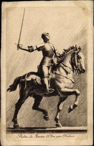 Künstler Ak Statue de Jeanne d'Arc par Dubois