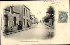 Ak Montcresson Loiret, Rue Principale