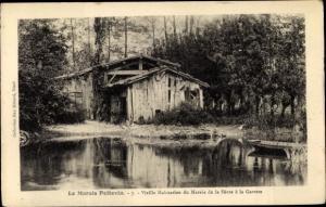 Ak Deux Sevres, Marais Poitevin, Vieille Habitation du Marais de la Sevre a la Garette