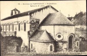Ak Parthenay Deux Sèvres, St Generoux, Eglise du Xe siecle