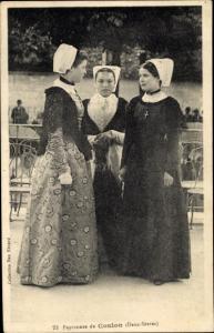 Ak Coulon Deux Sèvres, Paysannes, Frauen in Trachten