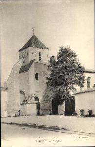 Ak Mauzé sur le Mignon Deux Sèvres, L'Eglise