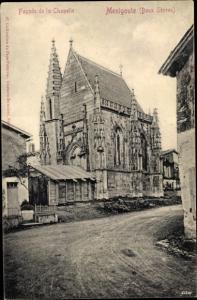 Ak Menigoute Deux Sèvres, Facade de la Chapelle
