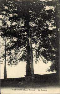 Ak Montigny La Forêt sur Sèvre Deux Sevres, Le Calvaire