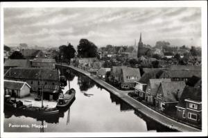 Ak Meppel Drenthe Niederlande, Panorama vom Ort
