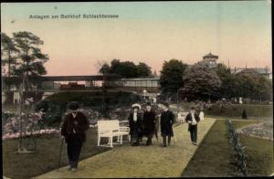 Ak Berlin Zehlendorf, Schlachtensee, Anlagen am Bahhof