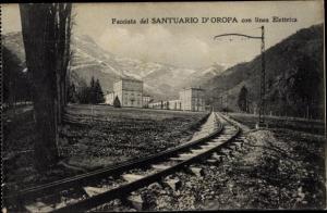 Ak Oropa Biella Piemonte, Santuario di Oropa, linea Elettrica