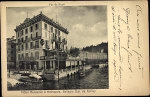 Ak Bellagio Lago di Como Lombardia, Hotel Genazzini & Metropole, Pension