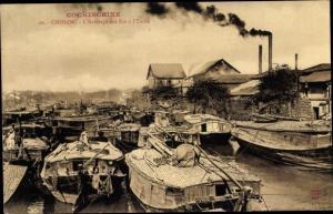 Ak Cholon Vietnam, L'Arrivage des Riz a l'Usine