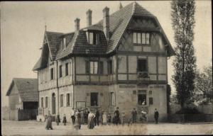 Ak Dornach Mulhouse Mülhausen Elsass Haut Rhin, Restaurant Eisbahn