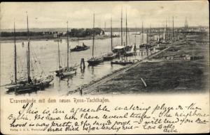 Ak Travemünde Lübeck, Renn-Yachthafen