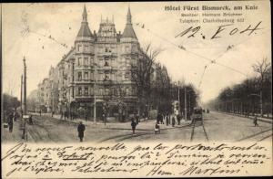 Ak Berlin Charlottenburg, Hotel Fürst Bismarck, am Knie