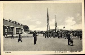 Ak Berlin Tempelhof, Zentralflughafen Tempelhofer Feld