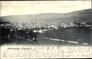 Ak Grevenmacher Luxemburg, Panorama vom Ort