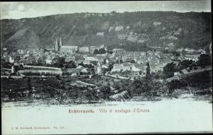 Ak Echternach Luxemburg, Ville et montagne d'Ernzen
