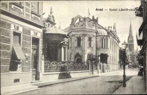 Ak Arad Rumänien, Szent Laszlo utca