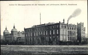 Ak Berlin Charlottenburg, Institut für Gärungsgewerbe, Versuchs- und Lehrbrauerei, Seestraße