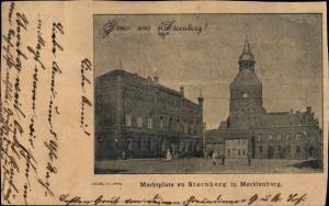 Ak Sternberg in Mecklenburg Vorpommern, Marktplatz